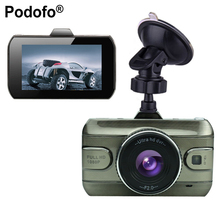 "Podofo 3"" Car Dvr 170 Wide Angle Full HD 1080P Car Camera Wide Angle Zinc Alloy Metal Recorder Motion Detection Night Vision(China)"