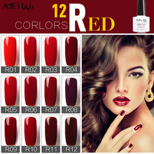 MYS 10ml 12 Colors Wine Red Series 12 Colors Pick 1 UV Gel Nail Varnish Nail Gel Polish Gel LED UV Nail Art Manicure(China)