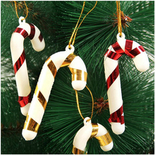 Wedding Decoration Christmas Ornament 10pcs Christmas Candy Cane Ornaments Festival Party Xmas Tree Hanging Decoration K7367