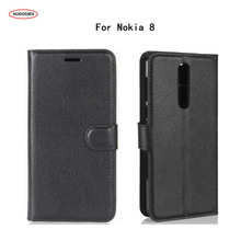 Buy HUDOSSEN Nokia 8 TA-1012 Case Luxury Phone Protective Case Coque Nokia 8 Book Flip Cover Wallet PU Leather Bag Carcasas for $3.89 in AliExpress store