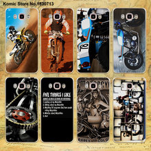 Moto Cross motorcycle sports design clear transparent hard Case for Samsung galaxy J7 2016 J5(2017) J3 J2 J1 2016