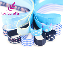 Lucia crafts Multi Option Printed Grosgrain/Satin Ribbons DIY Sewing Hairbows Gift Wrapping Christmas Ribbon Accessory 040054240