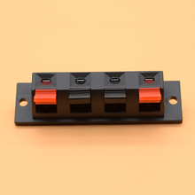 IMC Hot Single Row 4 Pin 4 Position Speaker Terminal Board Connectors 5 Pcs(China)