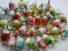 Free Shipping! Resin Hot Selling Miniature Mix Cup, Resin Cabochons for Phone Deco, Jewelry Accessory DIY (13*31mm)