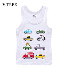 V-TREE Children T Shirts Cotton Kids T-shirt Printed Tees For Boys Girls Top Baby Clothing(China)