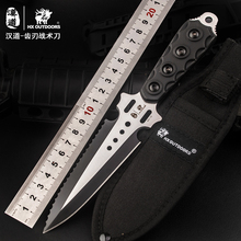 HX OUTDOORS Q-07 Tooth blade tactical diving knife, outdoor survival straight knife, jungle survival knife, high hardness knife