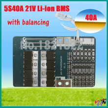 5S 40A 18.5V 21V li-ion BMS PCM battery protection board for LicoO2 Limn2O4 li battery with balance and Temperature Switche(China)