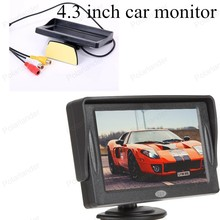 for Rear View Camera Parking digital Fold-able 4.3 inch TFT Color LCD small display for Camera Rearview Mirror Car Monitor