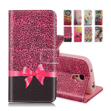 "Printing Wallet Leather Case For Samsung Gaalxy S4 mini I9190 i9192 i9195 4.3"" Magnetic Cover With Stand Card Slot Phone Bags(China)"