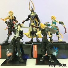 Dissidia Final Fantasy Trading Arts Warrior of Light Cloud Strife Squall Leonhart Tidus Toy Action Figure Model Gift