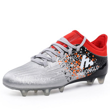 2017 Football Boots Original Cleats Gray/Blue Athletics Spikes Shoes New Arrival Men Soccer Shoes Damping Mens Football Trainers