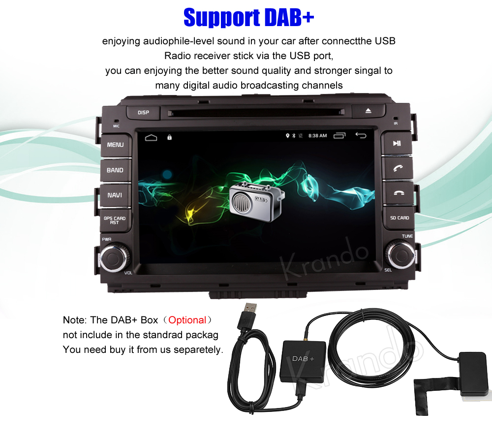 Krando kia carnival Android car radio gps navigation multimedia system (5)