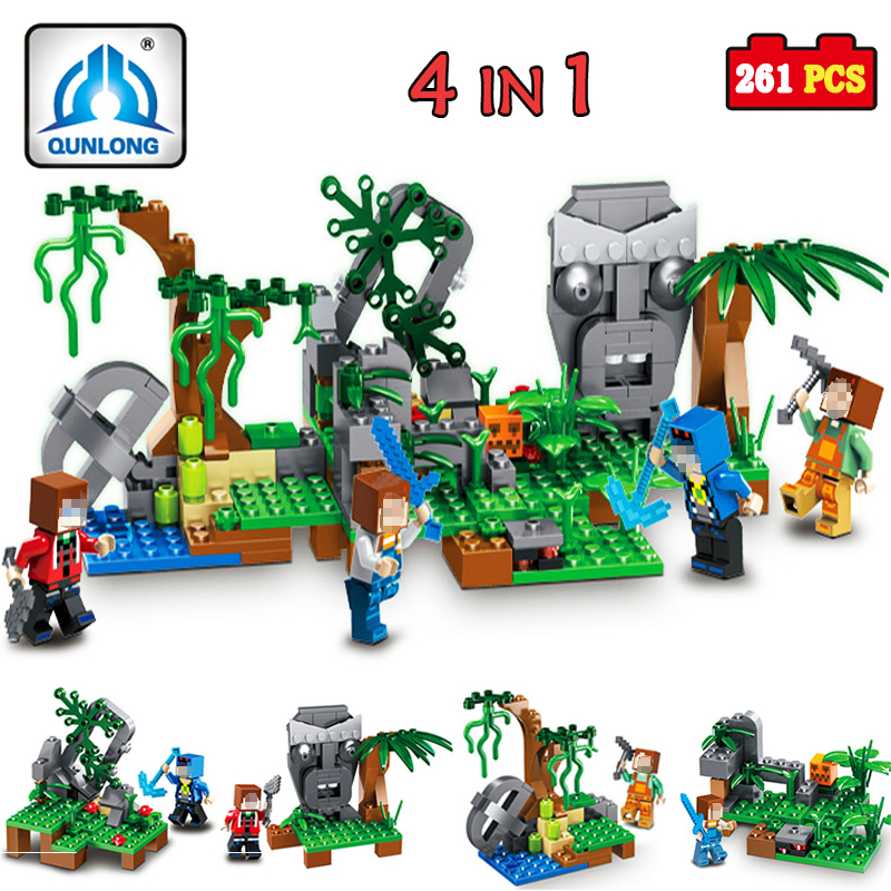 qunlong Jungle Building Blocks Compatible Lepin Boy Girl Toys Compatible Legoe Minecraft City Bricks For Children Friends Gift<br>