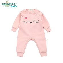 Buy 2017 Spring Autumn Newborn Rompers Baby Boys Girls Clothes Long Sleeve Cute Cartoon Queen Cat Face Cotton Infant Jumpsuit 0-24M for $12.04 in AliExpress store