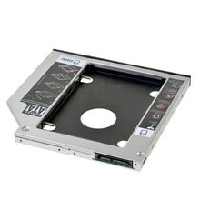 "12.7mm 2.5"" SATA Aluminum 2nd Hard Disk Drive SSD HDD Caddy Adapter bay for SAMSUNG R780 R730 R728 R720 R718 R710 R700"