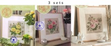Free Delivery Top Quality Lovely Counted Cross Stitch Kit Roses Rose Botanical Botanique cross stitch DFEA