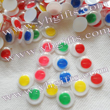 1000PCS/LOT.1cm 5 color Plastic colorful eyes,Doll eyes,Craft material,Craft work,Color eyeball,Freeshipping.wholesale.OEM(China)