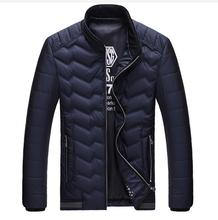 RICHARDROGER Winter Jacket Men New Men Stand Collar Glossy Down Parka Mens Warm Jacket And Coats Casual Thick Outwear For Men