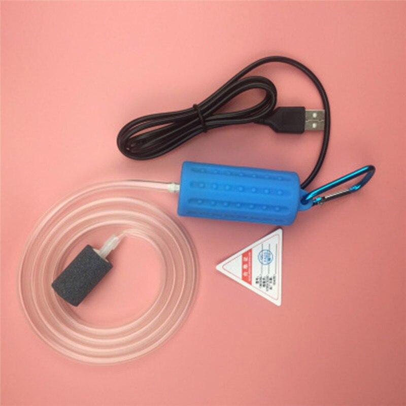 Aquarium Air Pump Portable Mini USB Oxygen Air Pump Mute Energy Saving Supplies Aquatic Terrarium Fish Tank Accessories 15