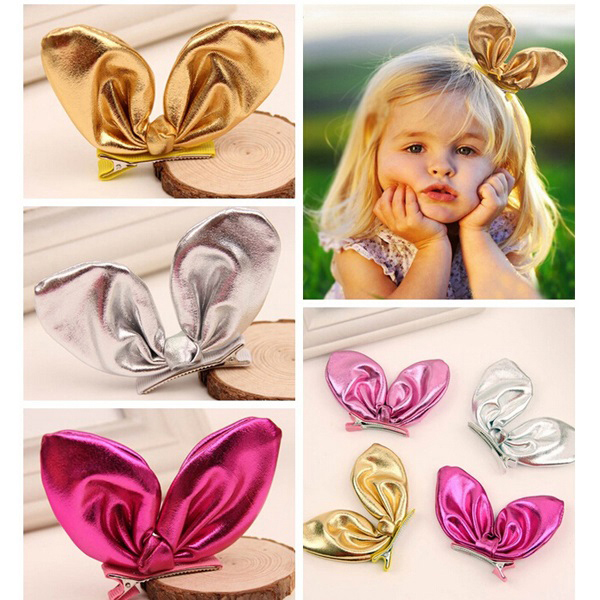 Cute baby girls bunny hair clip Candy color Children rabbit ear hair accessories Beautiful girls hairpin 5colors 10pcs/lot BB041<br><br>Aliexpress