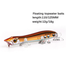 Hot Model Retail fishing lures,hard bait assorted colors, popper 12g/18g, Floating topwater baits