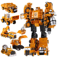 5 in 1 Metal Alloy Devastator Toys Big Size Robot Car Brinquedos Deformation Combiner Voltron Engineering Truck Gifts