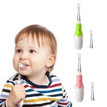 2Pcs/Set Kids Baby Electric Toothbrush Toothbrush Head Waterproof Soft Hair Electric Teeth Brush Oral Care Children