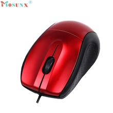 Small USB 3 Button Optical Scroll Wired Mouse Mice For PC Laptop Desktop_KXL0224