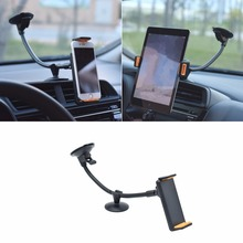"Universal Car Windshield Suction Mount Holder Stand For iphone ipad Samsung LG Xiaomi 4""-10"" Tablet PC Phone Drop ship(China)"