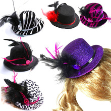 Fun hair clip top hat 50% off for 3pcs wedding favor bride bridesmaid birthday baby shower disco fashion event party supplies