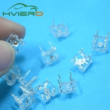 100pcs 3mm White Piranha Super flux LED Dome Wide Angle Super Bright Leds 4-Pin New High Quality