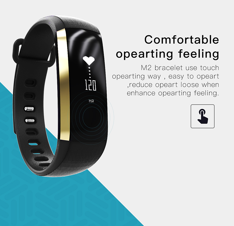 Fitness bracelet Heart Rate Monitor smart bracelet watches blood pressure activity tracker pk for IOS Android mi band 2 fitbit 1