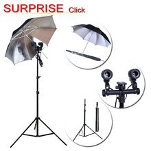 photographic equipment 85 cm Reflective umbrella and Lamp Bulb Holder E27 Socket Flash Umbrella Bracke and 7ft. 200cm stands