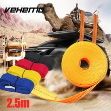 Vehemo 2.5M Car Fixed Strap Luggage Belt Tension Rope With Alloy Buckle 4 Color(China)