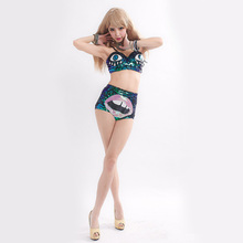 Buy 2018 Pole Dancing Performances Female Singer Ds Costumes New Sequins Stage Dance Costumes Nightclub Ladies Fashion Bra+Shorts for $21.00 in AliExpress store