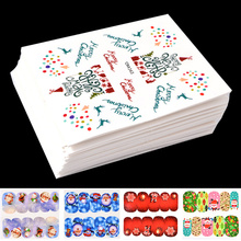 45 Pcs Charm Christmas Water Transfer Nail Stickers Decals Snowflake Jingle Bells Mix Designs Printing Nail Art Decorations(China)