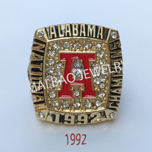 Wholesale Fashion Hot Sale European and American Replica Ring 1992 Alabama Crimson Tide National Championship Ring For Man