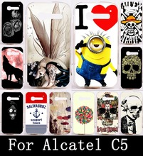 Cool Skull Head Skull Life Wolf Phone Cases For Alcatel One Touch Pop C5 5036  5036D Case Cover Soft TPU & Hard PC Shell Housing