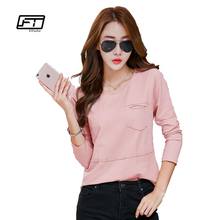 Buy Fitaylor Femme Women Plus Size XXXL Womens Pink Shirt Long Sleeve Slim TShirt O-Neck Tees Clothes Korean Fashion Clothing for $12.75 in AliExpress store
