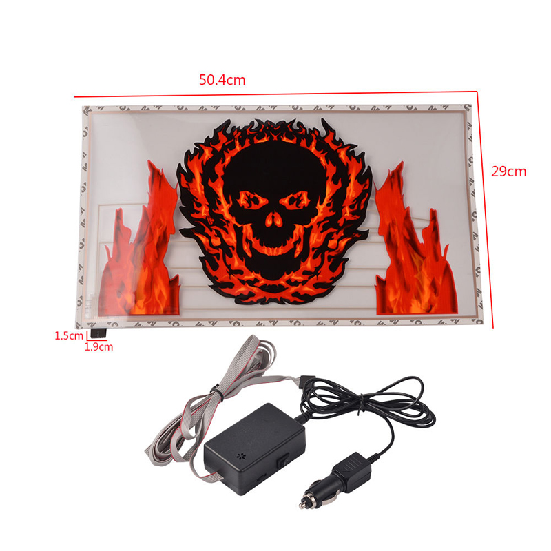 Free Shipping! 50x30cm Cool Skull Music Design Activated car sticker equalizer glow LED light Flashing Car Music rhythm lamp<br><br>Aliexpress