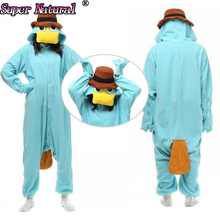 Platypus Kiguruma` Animal Onesies Footed Pajamas For Cosplay Costumes Halloween Holiday Party Performance Sleepwear Cheap Sale(China)