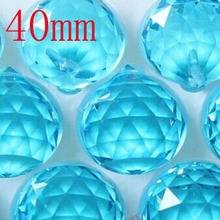 2pcs/lot 40mm aquamarine chandelier crystal ball for home curtain decoration wedding decoration free shipping(China)
