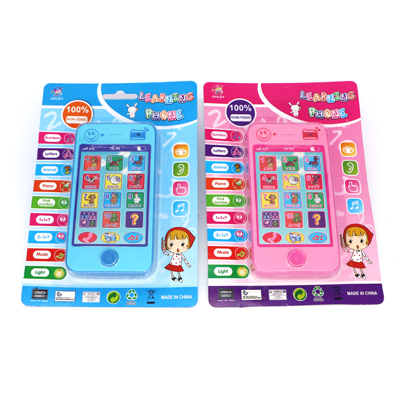 1 Pc Child English Russian Electronic Toy Phone For Kids Baby Mobile phone Educational Learning Toys Music Machine Toy For Child(China (Mainland))