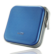 Rondaful New Non-Woven Fabric Square CD Bag DVD Plastic Disc Storage Box 40 Disc Double side CD DVD Storage Case(China)