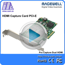 Hot Selling Magewell Pro Capture Dual HDMI Input HDMI Capture PCI Express Card Compatible with Windows/Linux/Mac Operating