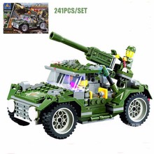 Century Military WW2 IronHorse Jeep Vehicle Model Building Blocks Military Tank Figures Bricks Educational Toy For Boy Gift