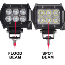 "Hot sale! 4"" 18W LED Work Light Driving Lamp Motorcycle Tractor Boat Off Road 4WD 4x4 SUV ATV Spot Flood Offroad 12V 24V Fog Wor"