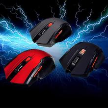 New 2.4GHz USB Wireless Optical Mice 1000-1200-1600-2400DPI Pro Game Mouse Human Engineering computer accessories(China)