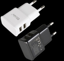 New Universal Wall Travel Power Charger Plug Dual USB Charger Adapter EU plus(China)