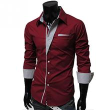 2016 New Dress Fashion Quality Long Sleeve Shirt Men Korean Slim Design Formal Casual Male Dress Shirt